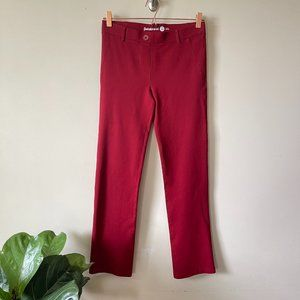 Betabrand Red Classic Yoga Dress Pant